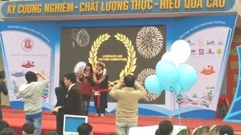 Em Trần Thu Trang lớp 8NK, đạt giải Nhất Rung chuông vàng.