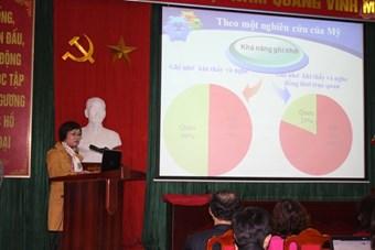 Bài báo cáo tham luận của cô giáo Trần Thị Kiều Nga