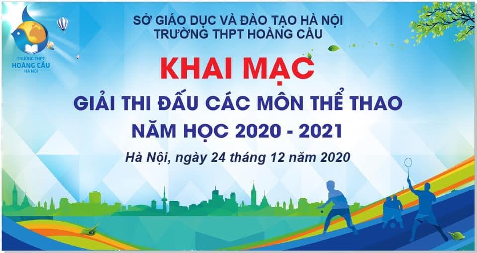 🔔🔔🔔KHAI MẠC GIẢI THI ĐẤU CÁC MÔN THỂ THAO NĂM HỌC 2020-2021🔔🔔🔔